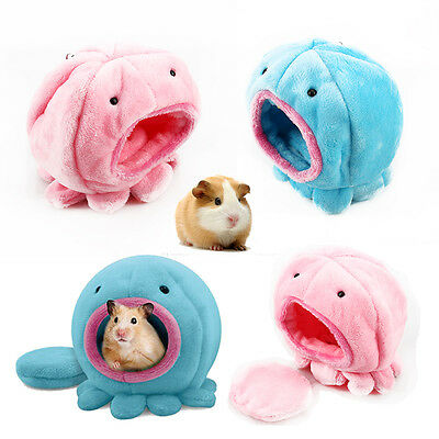 Rabbit Rat Hamster Parrot Squirrel Bed Warm Cotton Plush Small Pet Toy House Hot