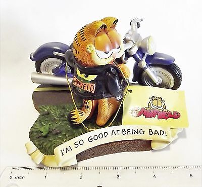 Westland Licensed GARFIELD The Cat Motorcycle I'm so Good at Being Bad FIGURINE