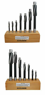 14 Pc HSS Counterbore Set, 3 Flute, Straight Shank, inch&metric, #508S-0007+007M