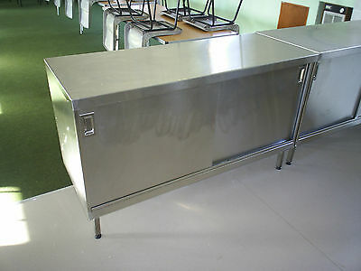 Stainless steel floor cupboard/cabinet.Made to measure.