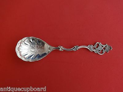 Oldemor by Th. Marthinsen Norwegian Sterling Preserve Spoon w/Engraved Bowl