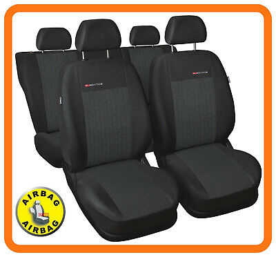 Universal CAR SEAT COVERS full set fits Vauxhall Insignia charcoal grey PATTERN4