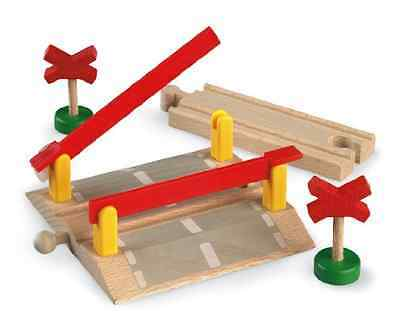 Railway Crossing Functional Brio Wooden Train Sets Pretend Play Quality Wood Toy