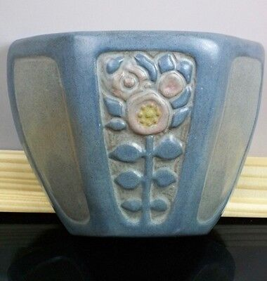 Four color Marblehead Pottery wallpocket