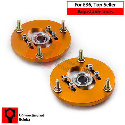 2PCS Front Coilover Camber Plate For BMW E36 3 Series Top Mount Kit Sales CRC