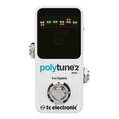 TC Electronic PolyTune 2™ Mini Ultra Compact Polyphonic Guitar/Bass Pedal Tuner