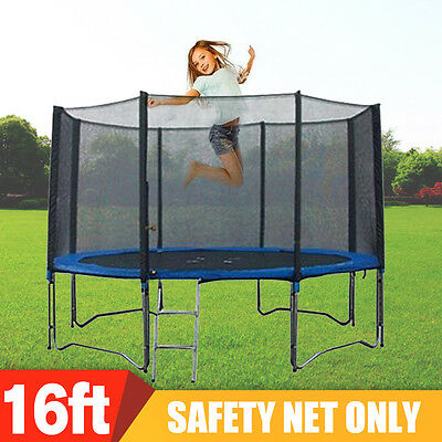 16FT FOOT 488cm TRAMPOLINE SAFETY NET ENCLOSURE SURROUND OUTSIDE NETTING
