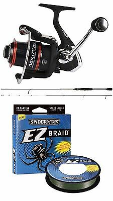 Shakespeare Agility 7Ft LRF Rod + Agility 20FD Reel & Spiderwire Braid Combo