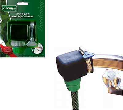 Large Square Mixer Kitchen Tap To Garden Hose Pipe Connector Adapter