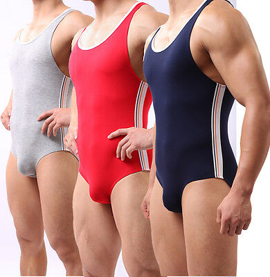 Men's Modal Sports Leotard Fitness Sexy underwear jumpsuits Wh10