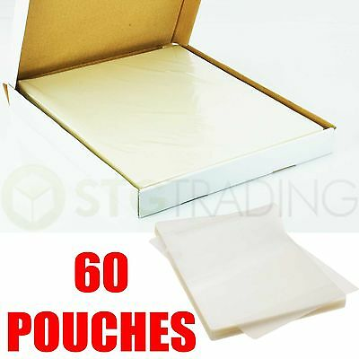 60 X A4 150 Micron Gloss Laminating Pouches Laminator Machine Sleeves Sheets