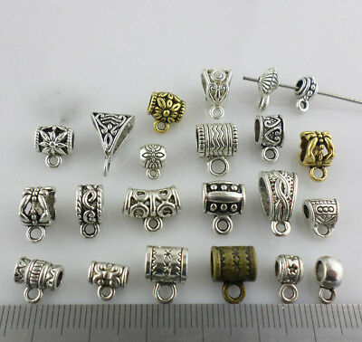 Mixed Gold/Silver/Bronze Connectors Spacer Bail Beads Charms Jewelry Findings