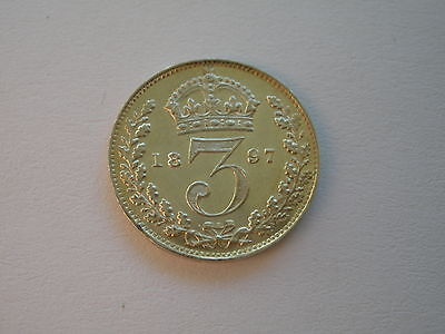 1897 Queen Victoria Maundy Threepence - Bu  - Uk Post Free
