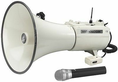 Monacor 17.2380 Wireless Megaphone with Microphone Transmitter NUOVO