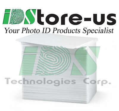 100 Blank White PVC Cards, CR80, 10 Mil, for Business Cards - Credit Card Size