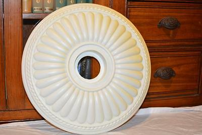 "17"" Antique Vintage Victorian Ceiling Medallion Molded Plastic Architecture Chic"