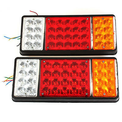 2x 12V LED Stop Rear Tail Indicator Reverse Lights Trailer Truck Waterproof Pair