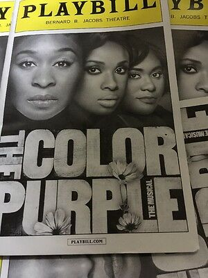 The color purple playbill