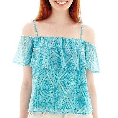 08b2a7fdc7d33 Decree Short-Sleeve Off-the-Shoulder Ruffle Top Size XL New With Tags