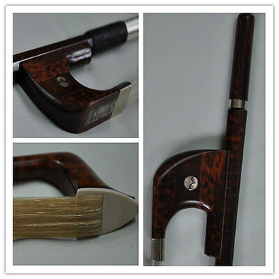 Good 4/4 German Style snakewood Double Bass Bow snakewood Frog free shipping 35