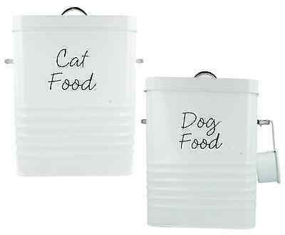 Lesser And Pavey Cat Dog Food Storage Tin Container With Scoop Lp27808 Lp27807