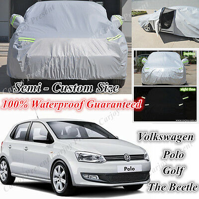 Premium Car Cover Double Thick Waterproof for Volkswagen Polo Golf The Beetle AU
