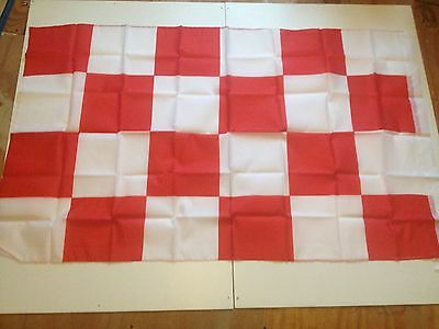 Large Red and white flag 5ft x 3ft Cork