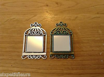 Miniature metal MIRROR for 1:12th scale dolls house antique vintage picture DH8