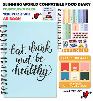 New Diary,diet, Weight Loss Buddy, Notebook, Tracker, Slimming, Extra, Easy, Sp