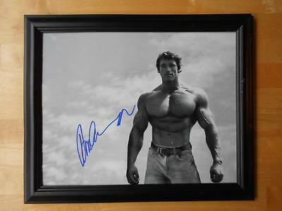 "ARNOLD SCHWARZENEGGER Hand Signed COA Autographed muscle 11"" X 14"" photo FRAMED"