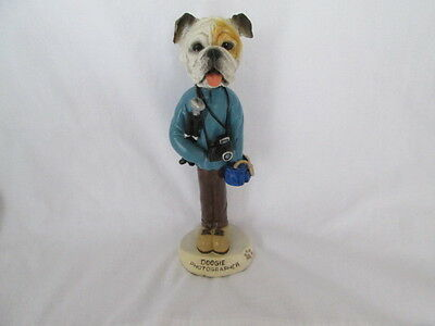 English Bulldog Doogie Photographer Collectable Figurine  - Animal Connection