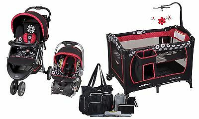 Baby Stroller Travel System Car Seat Playar Set Combo BabyTrend Floral New Boxed