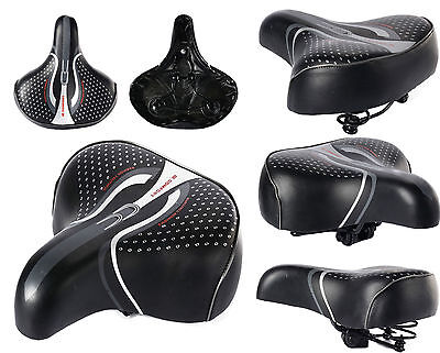 Unisex Big Wide Bum Bike Bicycle Cycle Extra Comfort Soft Saddle seat New 3 Size