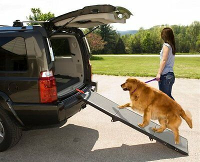 Tri folding Pet Ramp for Dogs and other Pets. Easy car Boot Fit. Puppy & Senior
