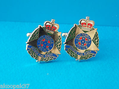 Cufflinks Victoria Police Enamel & Nickel Plated Badge 25Mm Highsocial Item Only