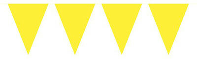 Yellow Mini Flag Party Bunting 15 Flags 3M Party Decoration