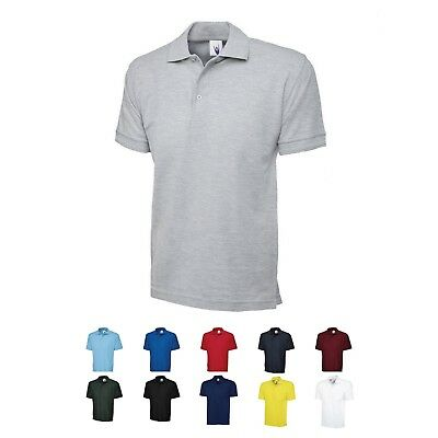 UC102 Uneek Mens Premium 250gsm Work Casual Quality Short Sleeve Polo Shirt