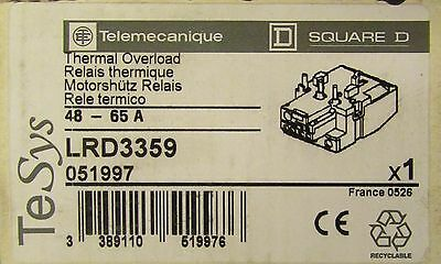 TELEMECANIQUE SQUARE D Thermal Overload Relay 48-65 Amp LRD3359