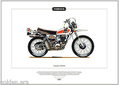 YAMAHA XT500 - Motorcycle Fine Art Print - Japanese off-road motorbike dirt bike