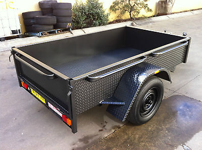 Brand new Deep side Box Trailer  LED 7X4FT H duty ALSO 7x5 8x4 8x5 9x5 AVAILABLE