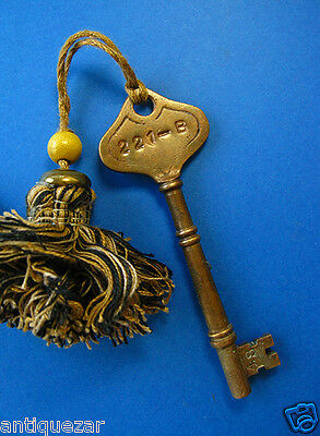 Sherlock Holmes 221-B Stamped Victorian Antique GENUINE Brass Skeleton Key Prop
