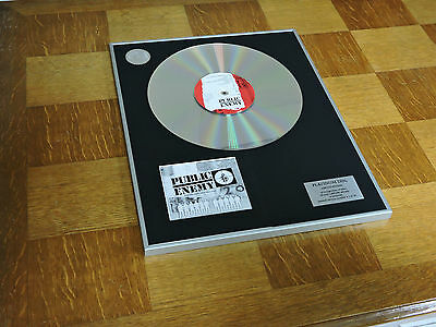 PUBLIC ENEMY give the peeps what they need  DISCO DE PLATINO / PLATINUM DISC