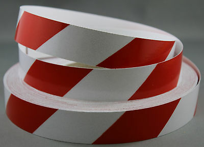 3M Red/White Class 2 (3200 Series) Reflective Tape 25mm x 5m RIGHT
