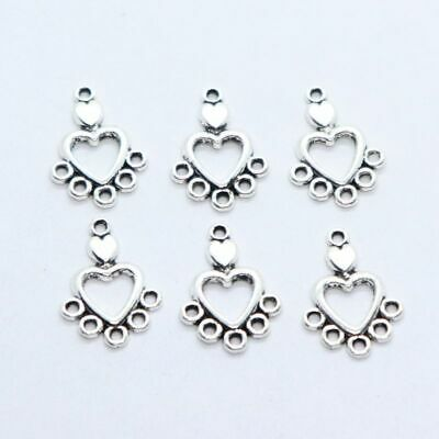 24//72pcs Tibetan Silver Connectors Spacer Beads Charms Pendants Jewelry Making