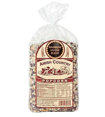 Amish Country Rainbow Popcorn - 2 Lb Package - Free Expedited Shipping!