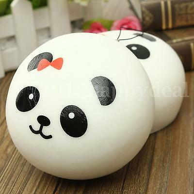 Squishy Cell Phone Cute Soft Jumbo Panda Bag Strap Pendant Keychain Ring 10cm