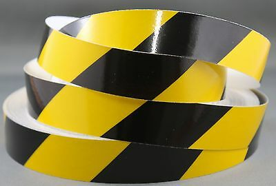 3M Yellow/Black Class 2 (3200 Series) Reflective Tape 25mm x 15m RIGHT