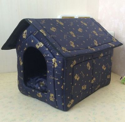 New Cute Black Gold Kitty Indoor Pet Dog Cat House Beds Kennel Size M-XL 3colors