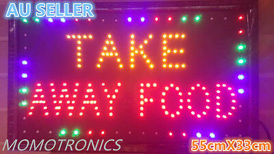 LED NEON TAKE AWAY FOOD for shop, restaurant business SIGN  SIZE: 55CM X 33CM