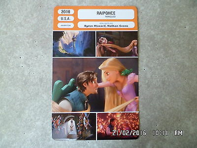 Carte Fiche Cinema 2010 Raiponce Disney